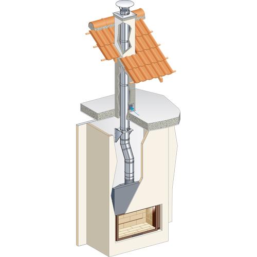 tuber a de simple pared poujolat condensor chimeneas sancho. Black Bedroom Furniture Sets. Home Design Ideas